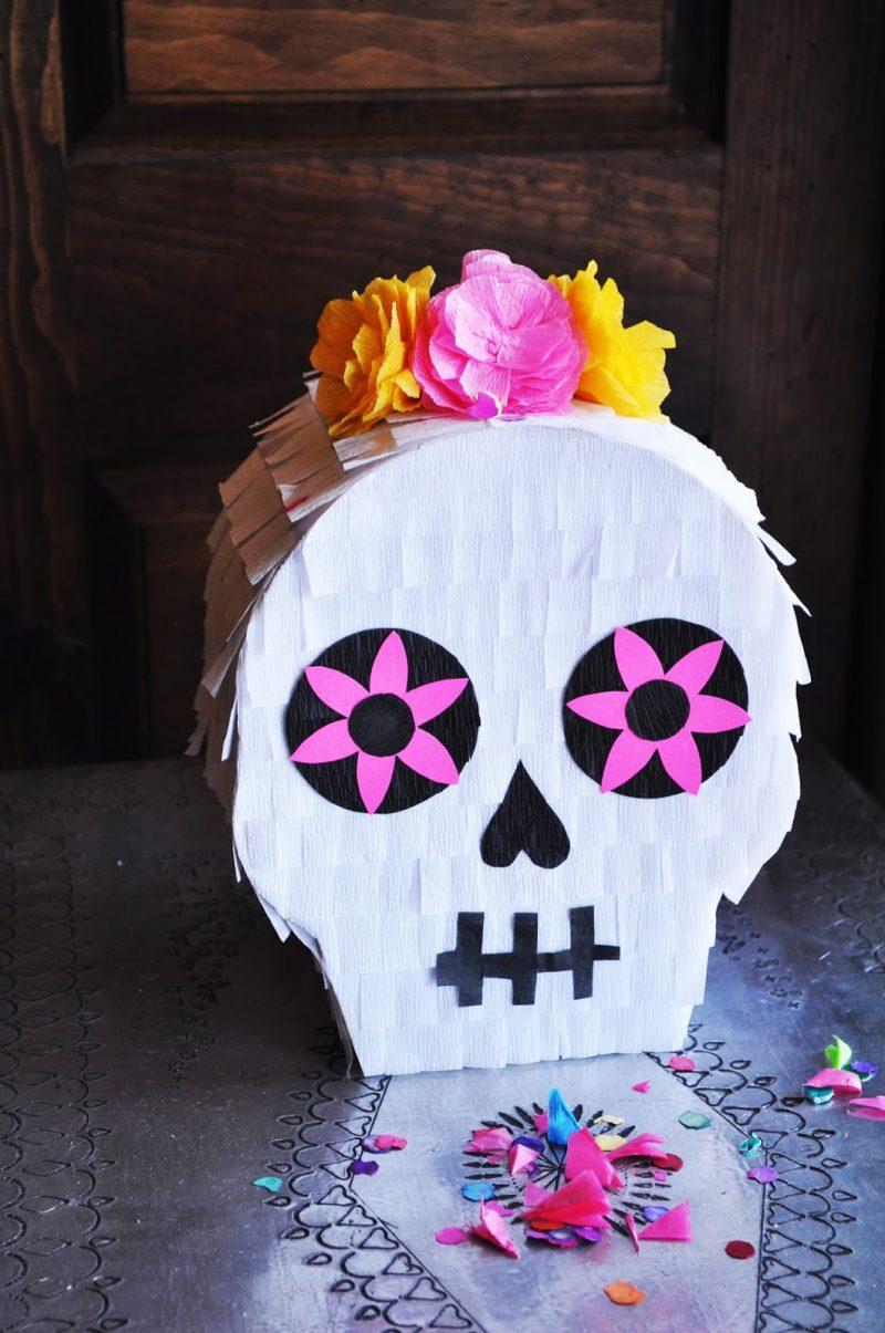 DIY piñata Skull perfect for Taco Tuesday