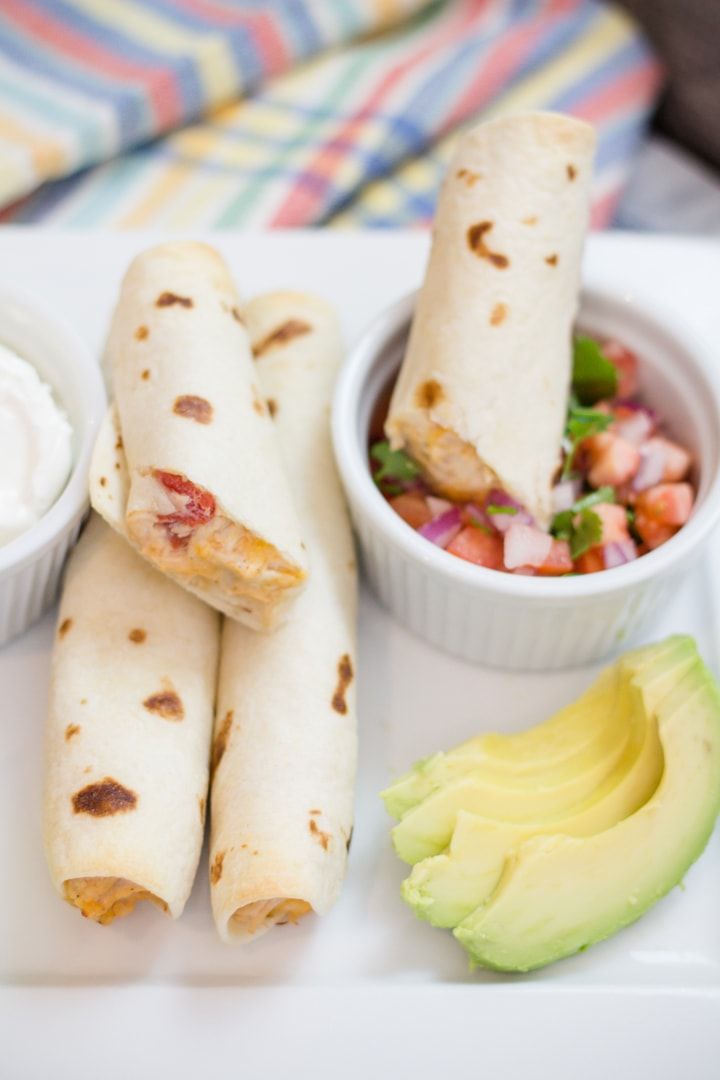 Delicious homemade chicken Taquitos perfect for Taco Tuesday parties
