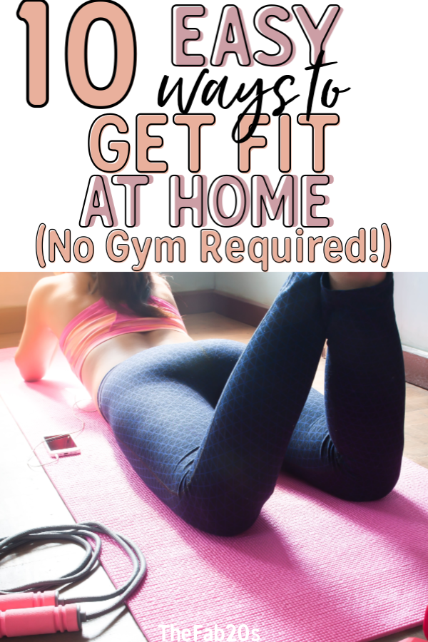 Getting fit without a gym membership isn't impossible! In fact, it's quite easy to stay in shape with home workouts when you follow these easy tips. Lose weight and get lean while staying home #workingout #athomefitness #homeworkout