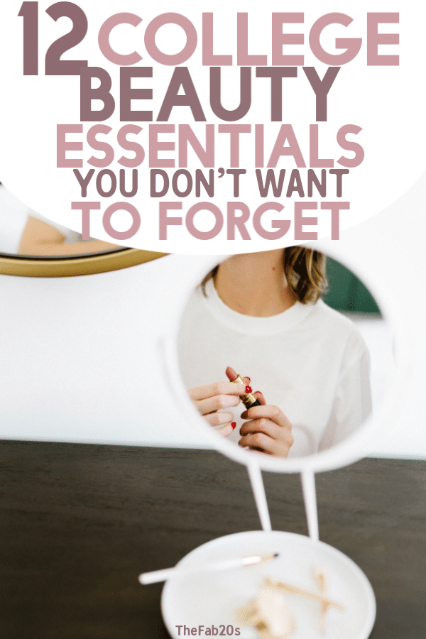 23 of the best college dorm room beauty essentials. I loved these beauty products for fast, organized college mornings! #beauty #college #essentials #dorm