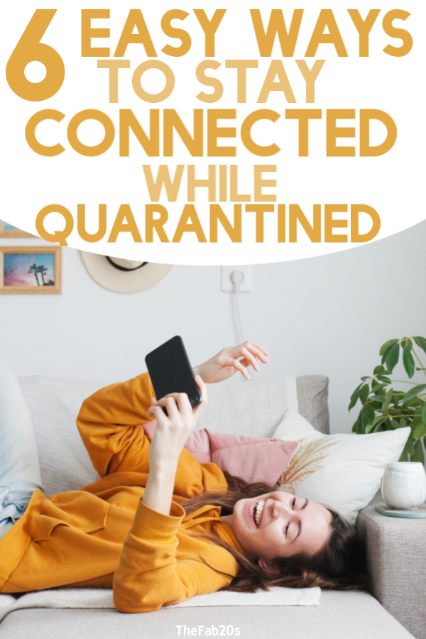 We are living in very WEIRD times. Whether you are quarantined or social-distancing, you can still stay connected with friends and family. These are some easy, thoughtful ways to support loved ones while keeping safe #quarantined #socialdistancing