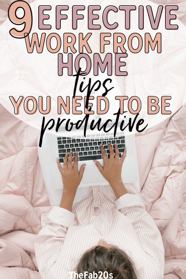 Want to work from home like a pro and stay on top of your productivity? Not maximizing productivity is often an issue for those working from home. So here's a list of easy work from home hacks. #workfromhometips #productivitytips #workingfromhome #stayproductiveathome #productivityhacks #wahmtips #wahm
