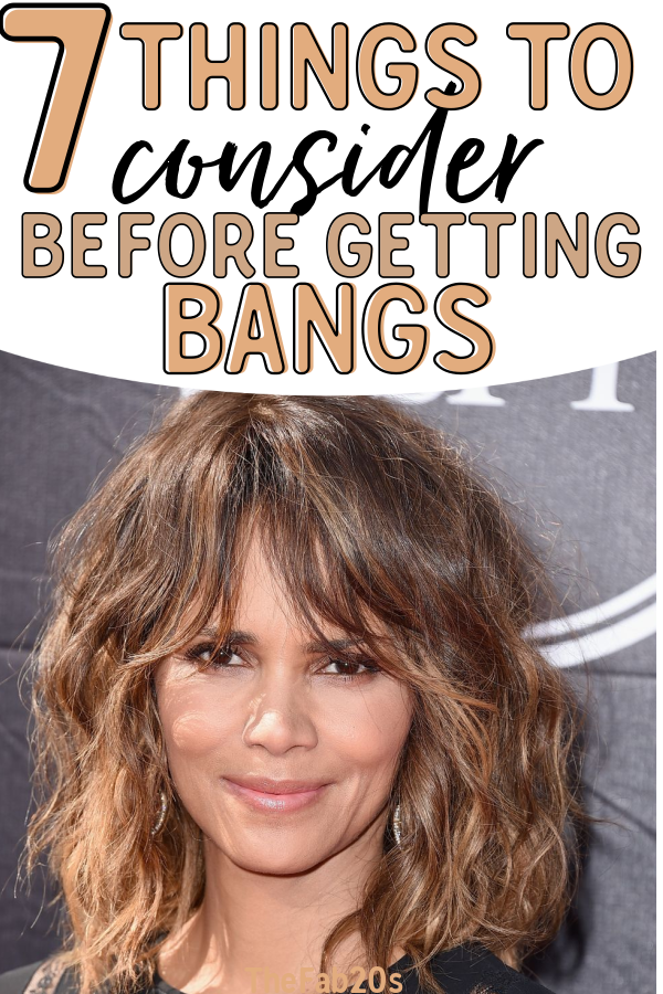 Should I get bangs?! Things to consider before grabbing the scissors and trimming your bangs! Although a new hairstyle can refresh your look, there are some things to keep in mind when you change up your look #bangs #shouldigetbangs #hairstyle #hairstyleideas