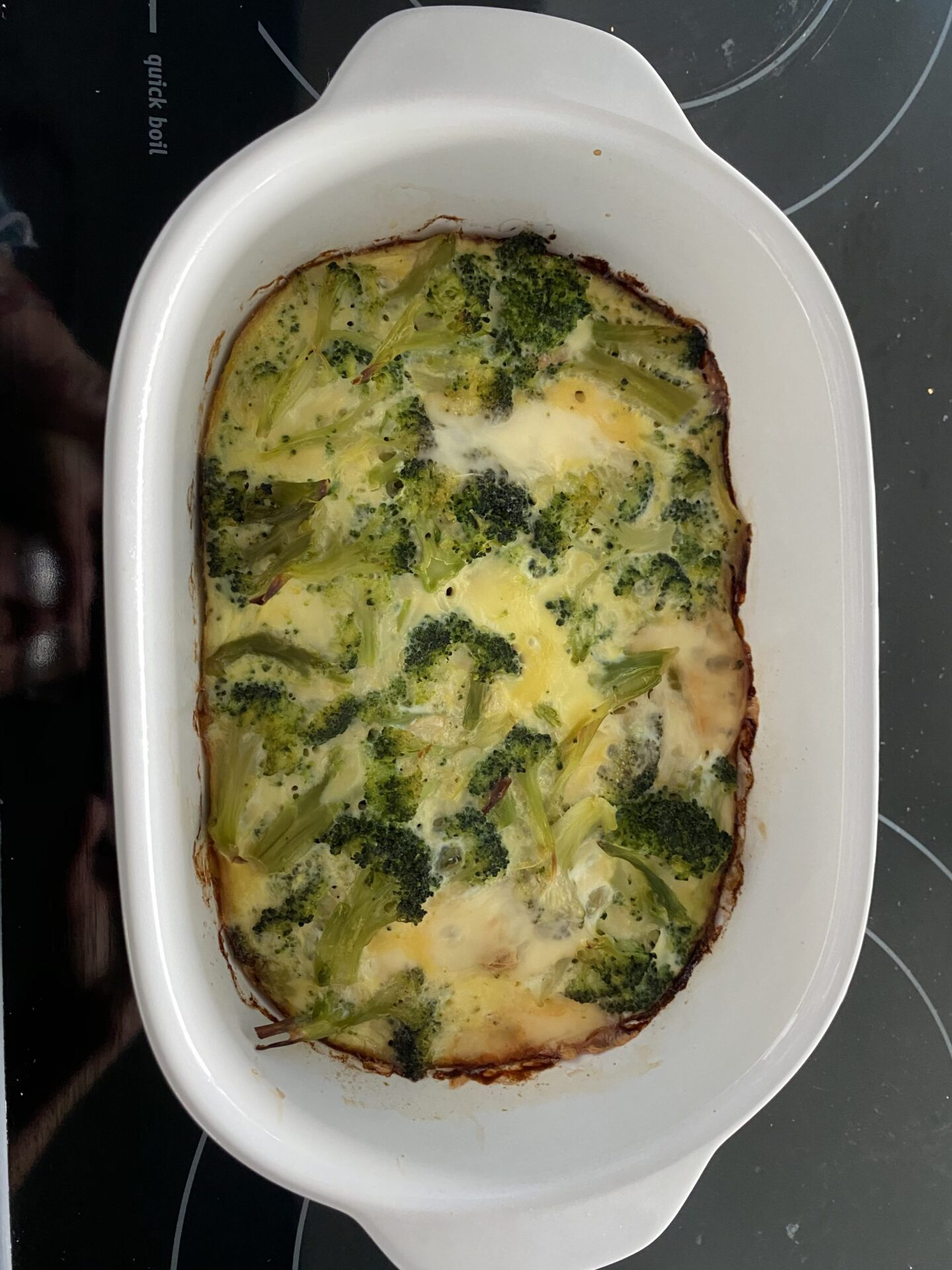 Broccoli Soufflé Made Easy that is a creamy and delicious start to the day. Perfect Keto recipe for busy moms.