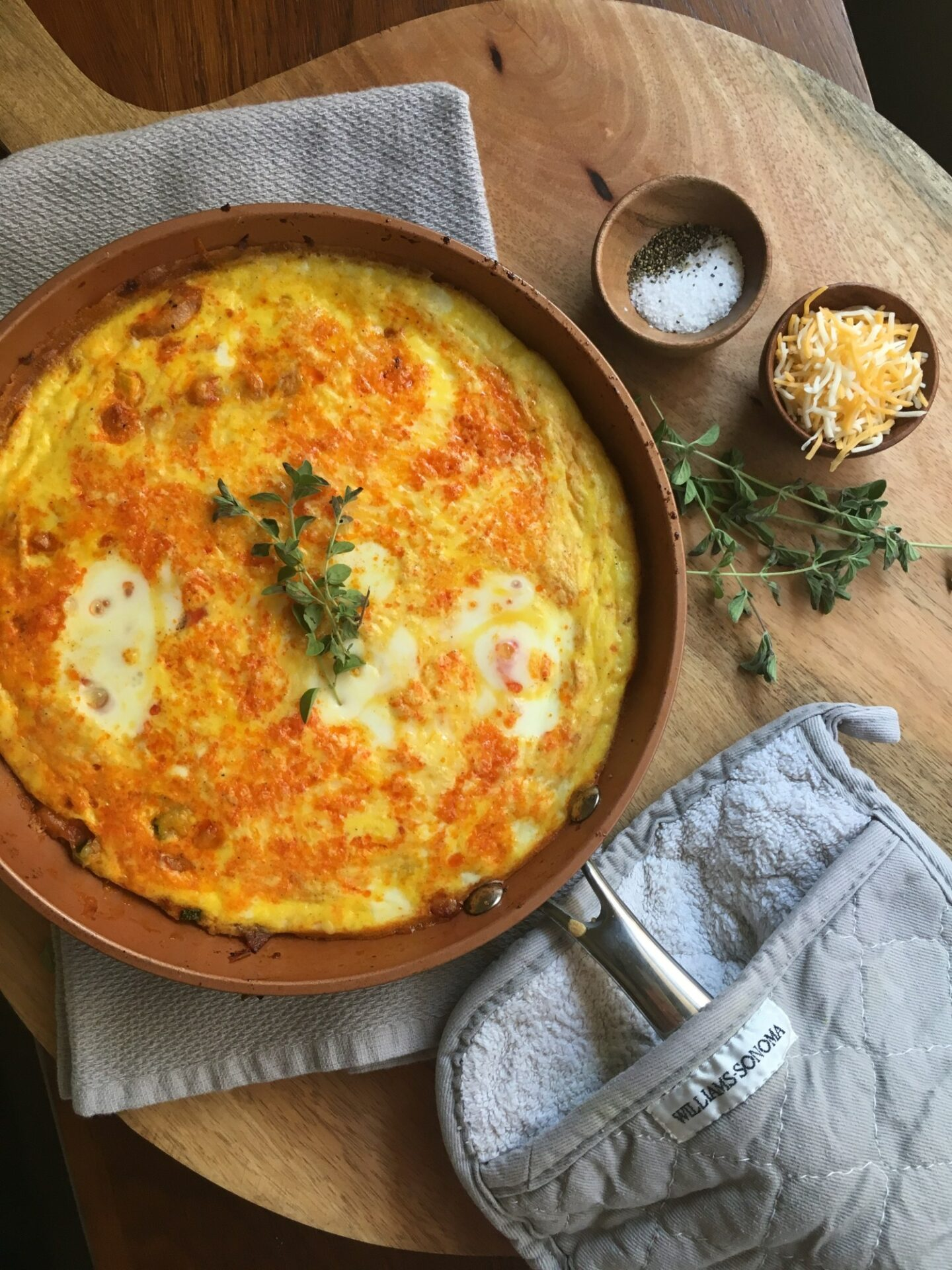 25-Minute Quick and Easy Frittata. Low carb and delicious breakfast casserole for the holiday mornings