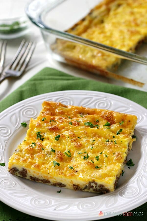 Delicious and easy low carb baked omelet. The perfect keto breakfast option!