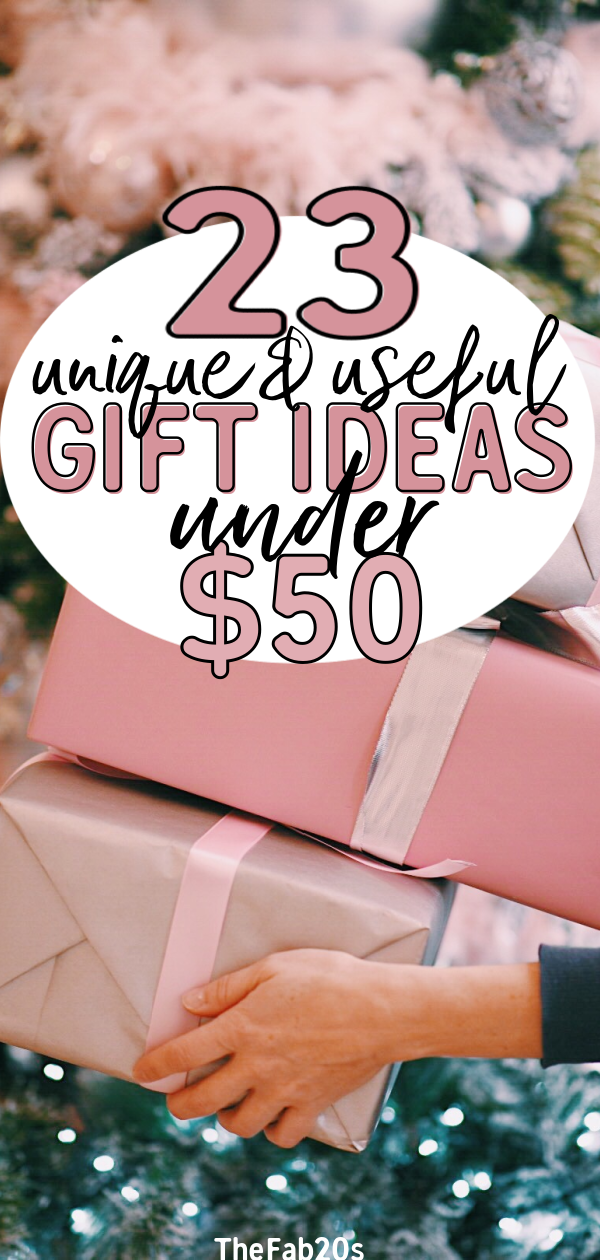 Looking for amazing gift ideas under $50? We got you covered! Your friends and family will LOVE these presents  #giftideas #giftguide #giftsunder50