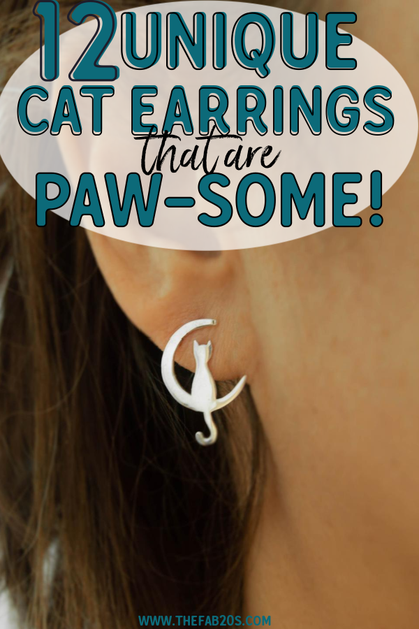 Talk about a statement piece! These cat earrings are one of the most unique accessories you can wear. They are the perfect jewelry gift for a cat-lover or for yourself! #catmom #catearrings #jewelry