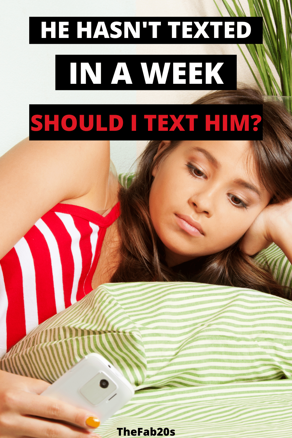 Should I Text Him First? If I haven't heard from a guy I'm dating in a while, what can I do? Learn these texting guys tips that will help you figure out is he not interested anymore and move on if that's the case!