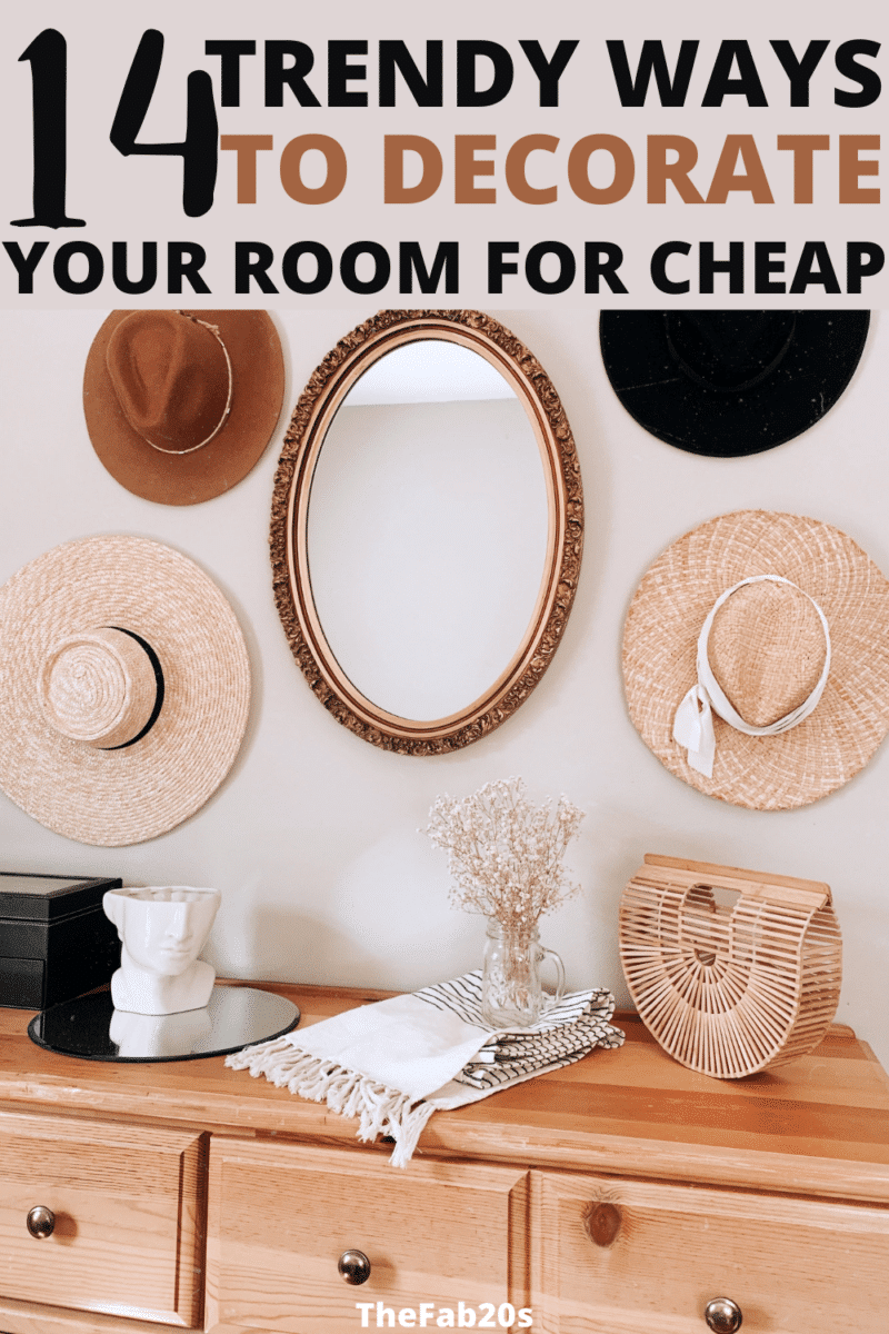 Wow! I was looking for cheap room decor ideas and these are perfect! I have a small bedroom and these diy decor ideas are a GAME-CHANGER!