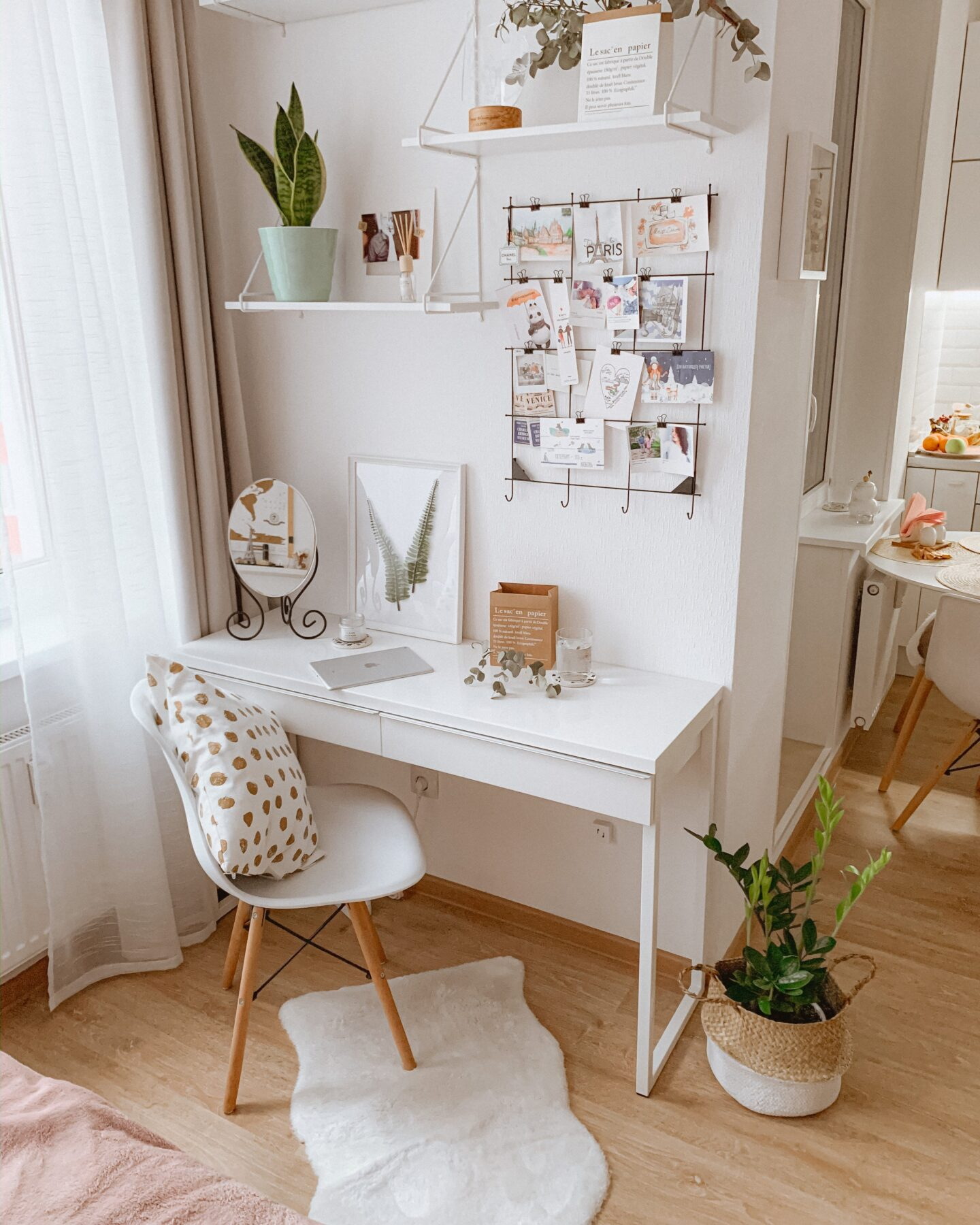 Rearranging furniture is an easy and free way to decorate your bedroom.