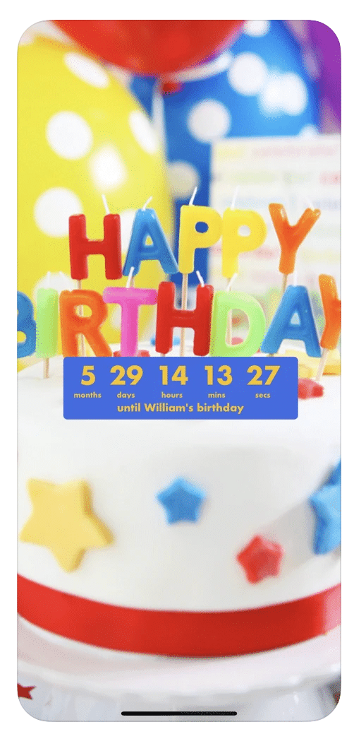 A fun and cute Birthday Tracker, Birthday Countdown is a must-have app