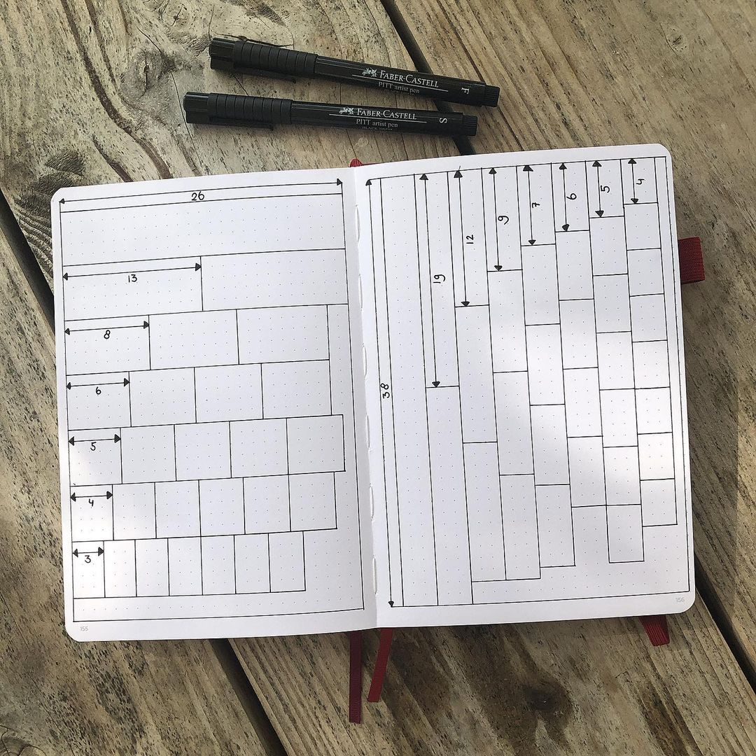 Grid spacing cheat sheet is the perfect bujo hack!