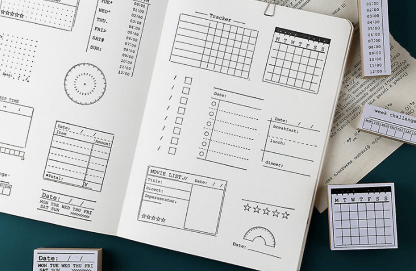 Bullet Journal Stamps are the perfect gift for bullet journal lovers