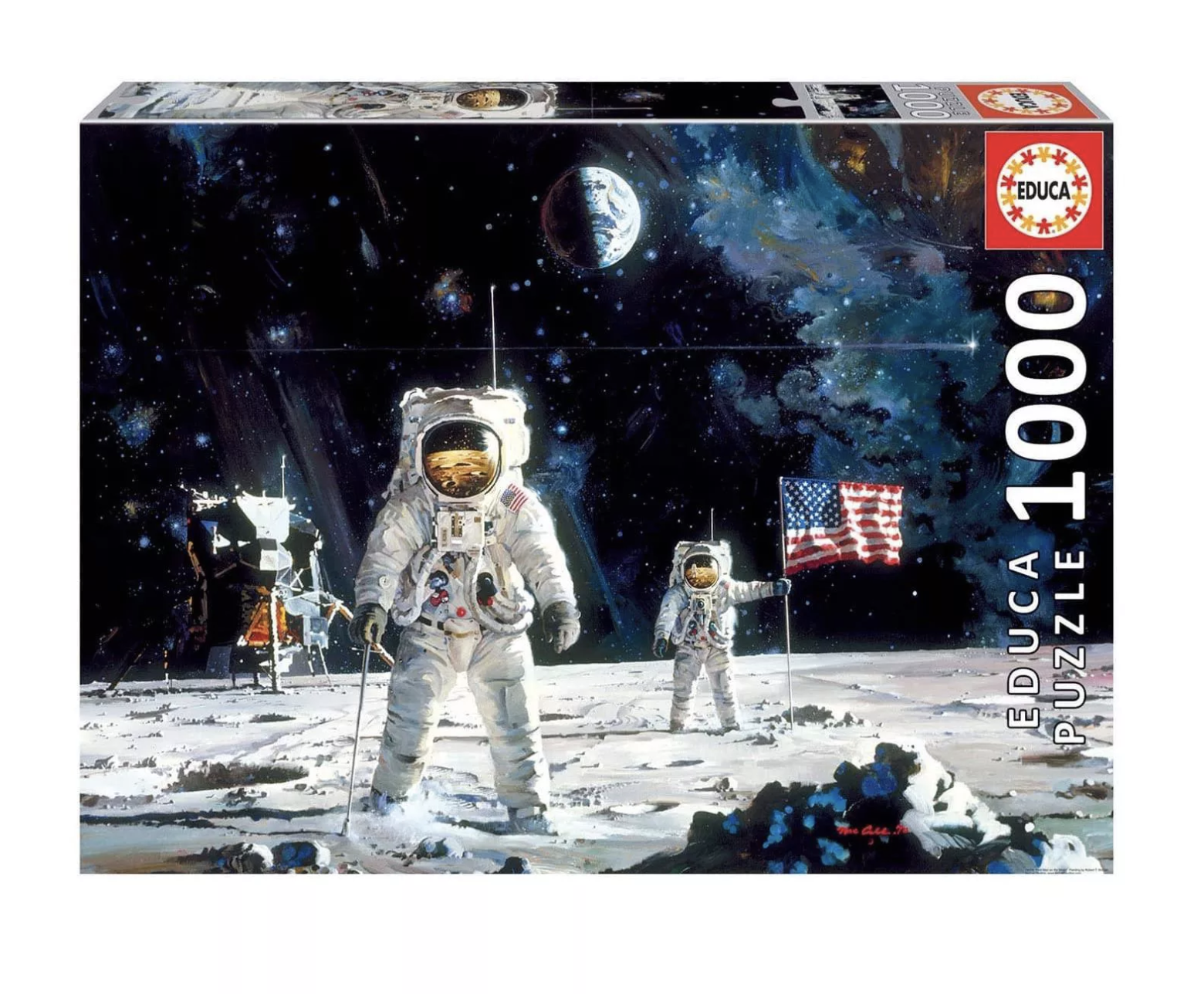First Men On The Moon - 1000 Piece Jigsaw Puzzle